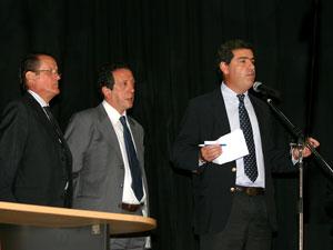 De izq. a Der.: Osvaldo Primavesi, Víctor Perez y Juan Maniel Acosta y Lara.