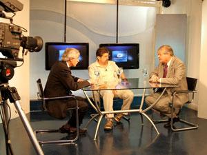 Jorge Hernández (FRA) entrevistado por Jorge Ferrera (Consorcios TV) y Claudio García de Rivas (Pequeñas Noticias).