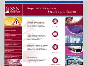 Sitio de la Superintendencia de Seguros de la Nación .