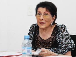 Sra. Teresa Villanueva, presidenta de ACCABA.