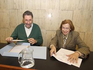 Osvaldo Loisi (LCPH) y Alicia Giménez (UCRA) en la Defensoría del Pueblo de la Nación.