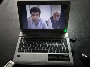Santa María se comunicó con los afiliados mediante un videochat que duró 34 minutos.