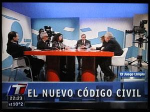 Cinco representantes de la comunidad consorcial con Nelson Castro en el programa Juego Limpio.