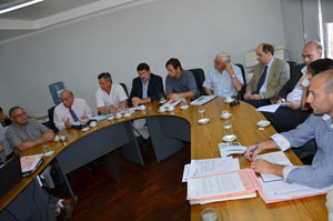 Reunión de Comisión de Legislación General con representantes de colegios profesionales provinciales.