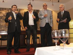De Izq. a Der.: los administradores Daniel Tocco, Fernando Staino, Arturo Molina y Marcos Barassi.