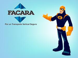Capitán Zero, ícono de la campaña de capacitación para escolares sobre el uso del ascensor.