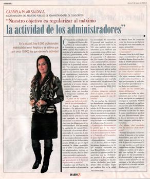 Nota realizada a la coordinadora del RPA porteño, Gabriela Pilar Saldivia, en Consorcios Z.