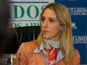 Diputada provincial Valeria Amendolara (FPV).