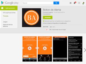 La aplicación permite comunicarse con la Policía Federal y enviar mensajes a un grupo de personas elegidas.