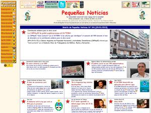Sitio Web de Pequeñas Noticias.