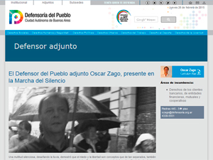 Foto de Oscar Zago, defensor del pueblo adjunto,  durante la Marcha del Silencio del pasado 18 de febrero.