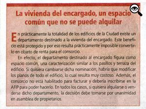 El recuadro publicado por Diario Z estaba enmarcado en un informe general sobre la problemática de los inquilinos.