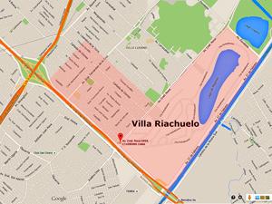 """Sede de la """"DElegación Lugano"""" en la calle Roca 6.959 de esta ciudad."""