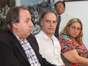 Fernando Muñoz, Aníbal Ibarra y María de la Cruz Rachid.