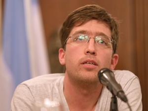 Alejandro Valiente, integrante del Movimiento de Trabajadores Excluidos.