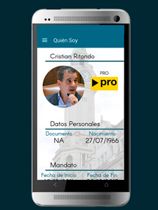 Aplicación de Cristian Adrián Ritondo, vicepresidente de la Legislatura.