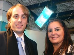 Juan Manuel Gallo y Gabriela Pilar Saldivia, coordinadora del Registro Público de Administradores porteño.