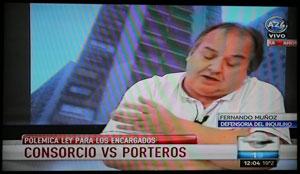 Fernando Muñoz en América 24 el 4 de abril al mediodía.
