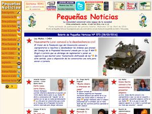 Sitio de Pequeñas Noticias en la Web.