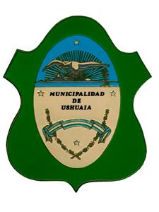 Escudo de la ciudad de Ushuaia.