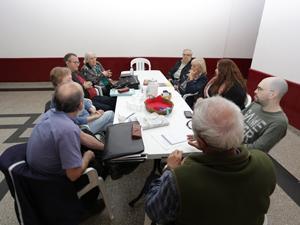 """Primera reunión de """"La Intercomunal de Propiedad Horizontal"""" en el barrio de Chacarita."""
